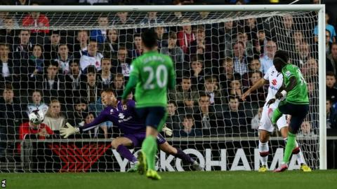 Sadio Mane scores for Southampton against MK Dons