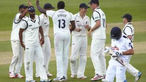 Warwickshire thought they might have a chance of victory when they removed Sean Ervine on 112-5