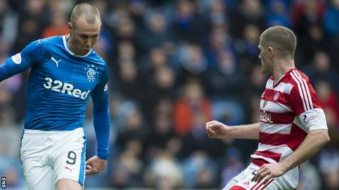 Alex Gogic (right) makes his first Hamilton start against Rangers