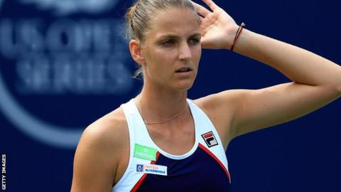 Pliskova is knocked out of the Rogers Cup