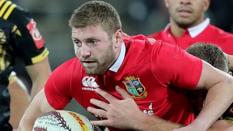 Finn Russell - a controversial replacement made for geographical reasons - made a brief appearance for the Lions in the draw with the Hurricanes