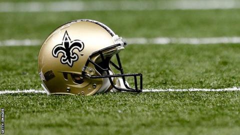 An NFL helmet