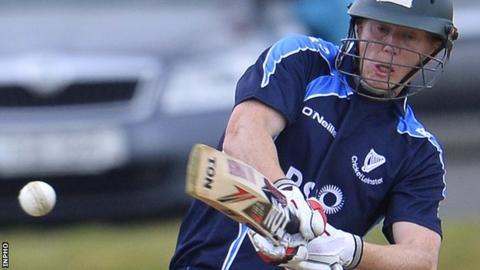Ireland international Kevin O'Brien hit an unbeaten 32 for Leinster Lightning at Bready