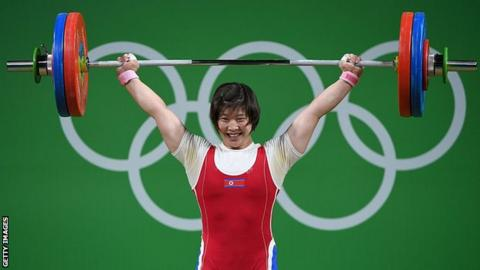 Weightlifter Rim becomes first woman to win 69kg and 75kg at Olympics