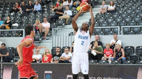 Great Britain in action in the win over Hungary