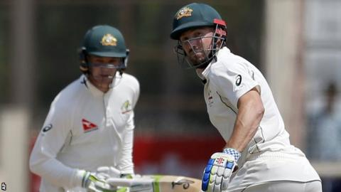 Peter Handscomb (left) and Shaun Marsh