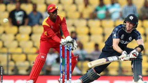 Scotland lost to Zimbabwe at last year's World Twenty20
