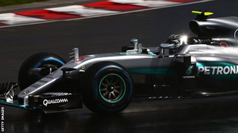 Nico Rosberg in action for Mercedes