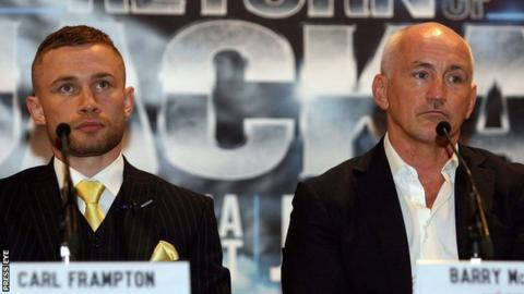 Carl Frampton confirms split from manager Barry McGuigan