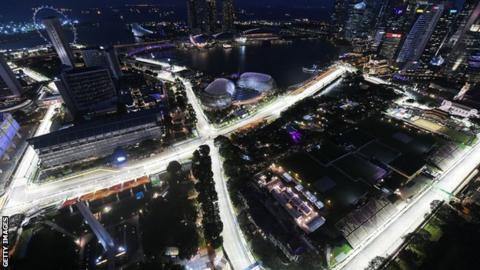 A general view of the Singapore circuit