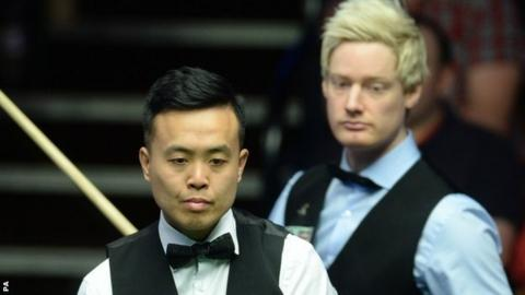World Championship: Marcu Fu fights back to level with Neil Robertson