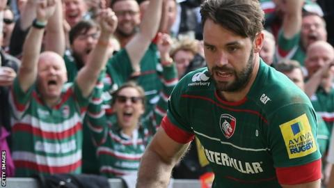 Niall Morris in action for Leicester Tigers