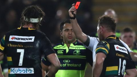 Dylan Hartley is sent-off