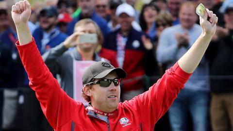 USA fan David Johnson