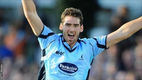 Sussex bowler Chris Liddle