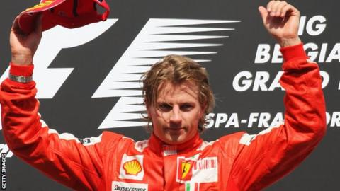Kimi Raikkonen wins the 2009 Belgian Grand Prix
