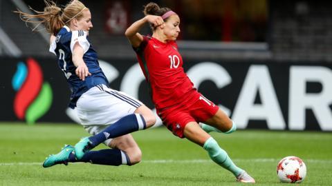 Ana Leite scores Portugal's second