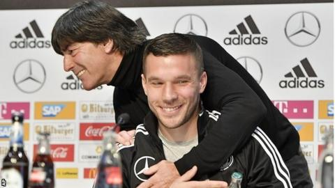 Retiring Podolski shocks England with left-foot thunderbolt