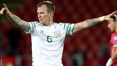 Glenn Whelan came on as a second-half substitute in the qualifier win over Wales last month