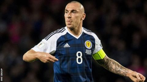 Scott Brown captained Scotland in the win over Slovenia