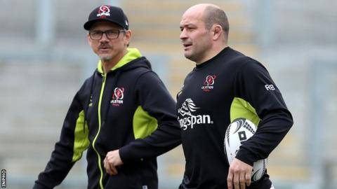 Ulster Director of Rugby Les Kiss and hooker Rory Best