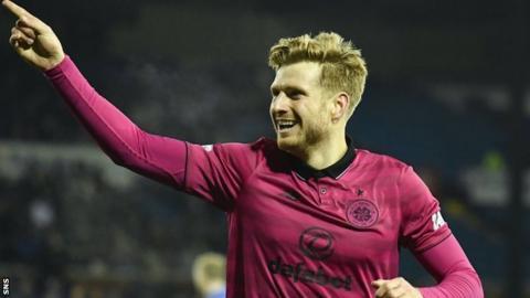 Stuart Armstrong celebrates scoring for Celtic