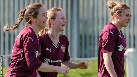 Hearts Ladies celebrate