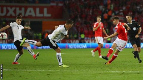 Ben Woodburn scores for Wales