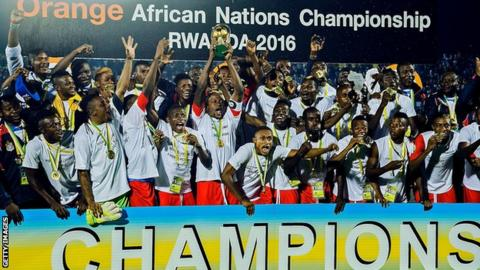 DR Congo celebrate winning the 2016 African Nations Championship