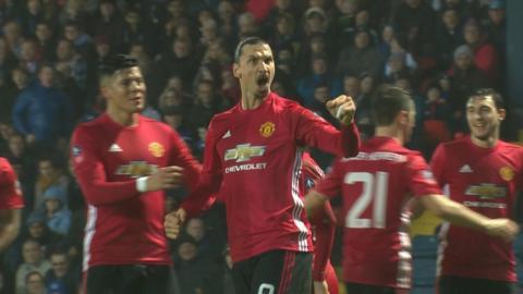 Zlatan goal celebrates