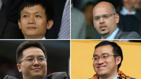 Clockwise (from top left): Albion owner Guochuan Lai, Birmingham City director Panos Pavlakis, Wolves director Jeff Shi, Villa owner Dr Tony Xia