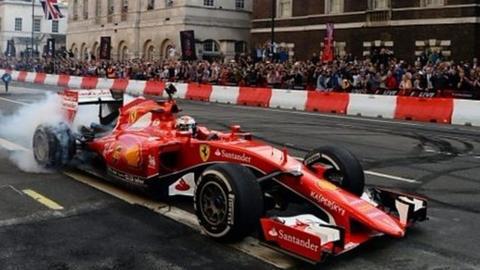 Formula 1 stars & cars on London's streets