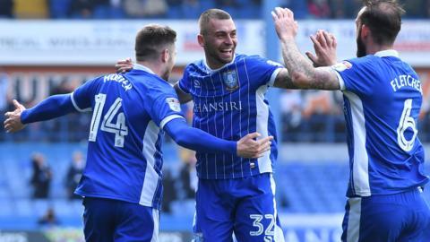 Sheffield Wednesday striker Gary Hooper celebrates his goal