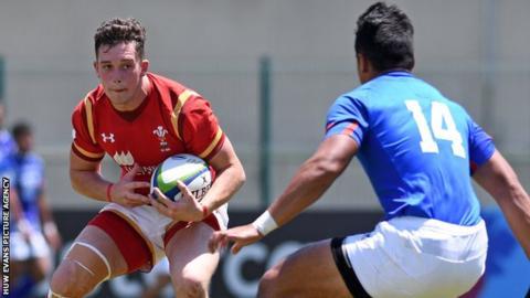 Wales' Joe Goodchild in action against Samo
