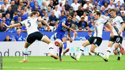 Kane scores four as EPL runner-up Tottenham routs Leicester 6-1