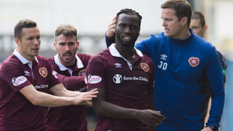 Isma Goncalves was sent off at Rugby Park