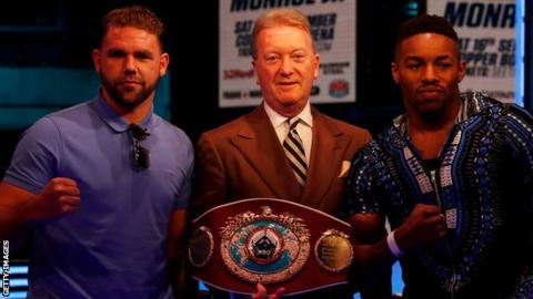 Billy Joe Saunders (left) has defended his WBO title only once since December 2015
