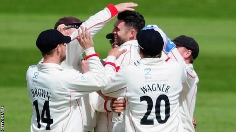 Jimmy Anderson has now taken 260 of his career haul of 731 first-class wickets for Lancashire