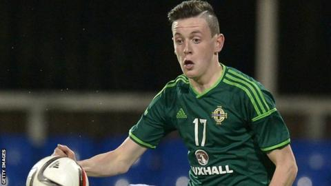 David Parkhouse had a debut to remember for Northern Ireland U21s in Tallinn