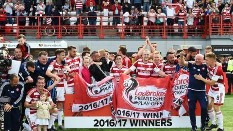 Hamilton retained their Premiership status after winning the play-off final
