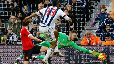 Salomon Rondon scores West Brom's winner