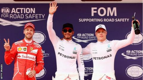 Vettel had the better of Hamilton in final practice but the Mercedes driver made it count in qualifying
