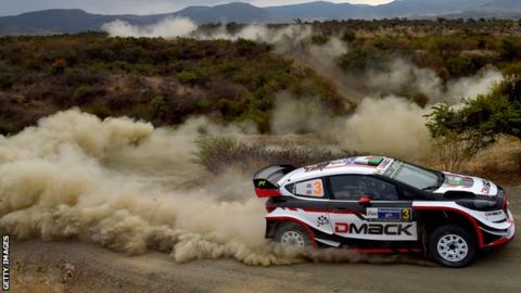 Welshman Elfyn Evans in action