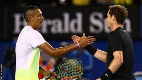 Nick Kyrgios (left) and Andy Murray