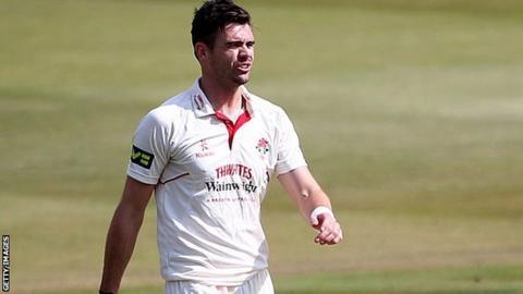 Lancashire bowler James Anderson