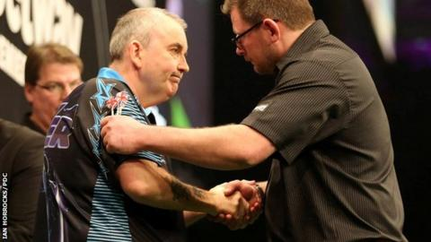 Phil Taylor and James Wade