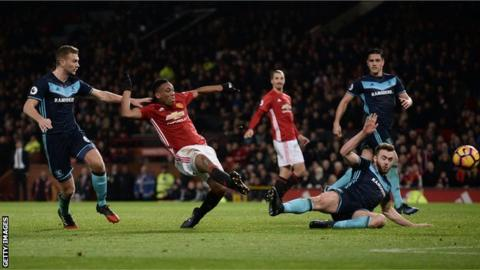 EPL: Pogba seals late Man United comeback win over Middlesbrough