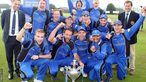 Delight for CIYMS as they celebrate their victory in the NCU Challenge Cup final