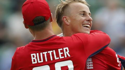 Tom Curran celebrates