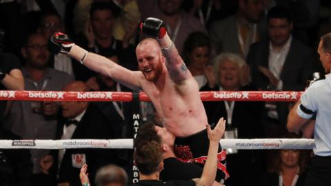 George Groves celebrates